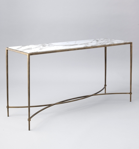 Parsons White Marble Top & Brass Base 48X16 Console Tables Regarding Most Recently Released Marble Top Console Table – Betinfon (View 13 of 20)