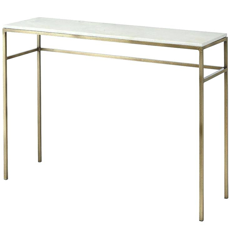 Parsons White Marble Top & Brass Base 48X16 Console Tables Within Most Up To Date Marble Top Console Table – Betinfon (View 15 of 20)