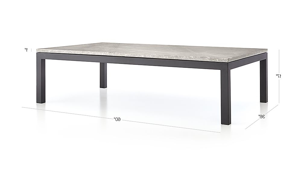 Parsons White Marble Top & Dark Steel Base 48X16 Console Tables Regarding Most Recent Parsons Grey Marble Top/ Dark Steel Base 60X36 Large Rectangular (View 10 of 20)