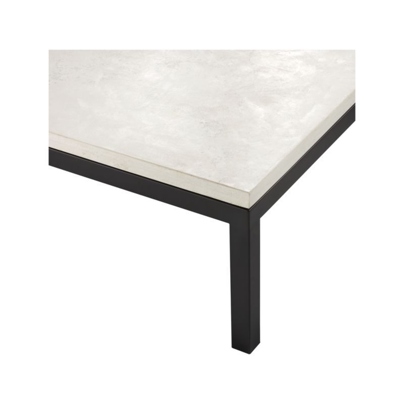 Parsons White Marble Top & Dark Steel Base 48X16 Console Tables Throughout Most Recently Released Parsons Travertine Top/ Dark Steel Base 48X16 Console (View 11 of 20)
