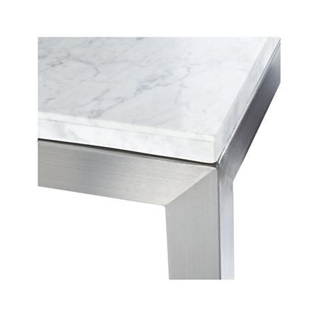 Parsons White Marble Top/ Stainless Steel Base 48X16 Console In 2018 With Latest Parsons White Marble Top & Dark Steel Base 48X16 Console Tables (View 15 of 20)