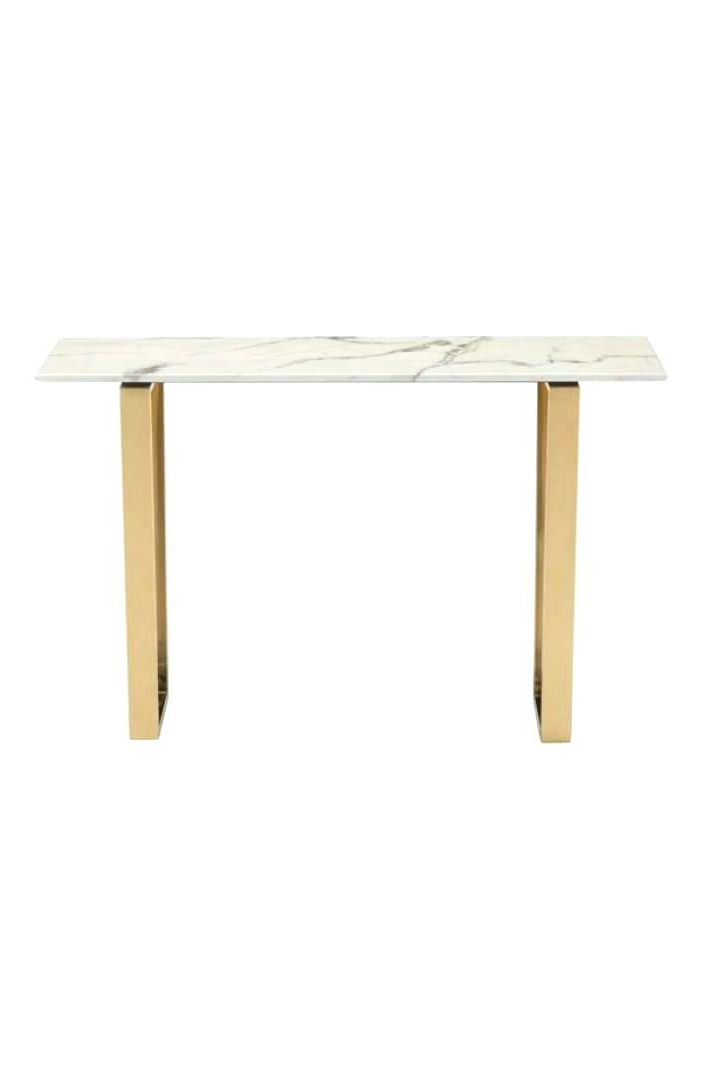 Parsons White Marble Top & Stainless Steel Base 48X16 Console Tables For Well Known White Marble Top Sofa Table – Decorating Interior Of Your House • (View 11 of 20)