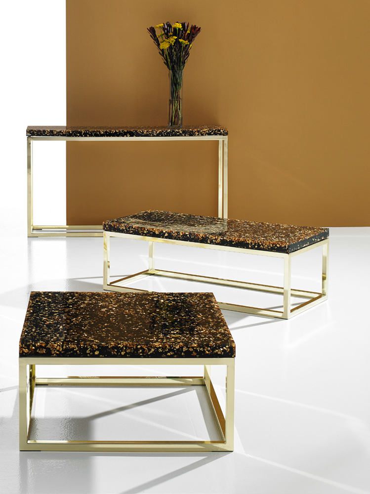 Phillip Brass Console Tables In Famous Phillips Collection Captured Gold Flake End Table – Modish Store (View 11 of 20)