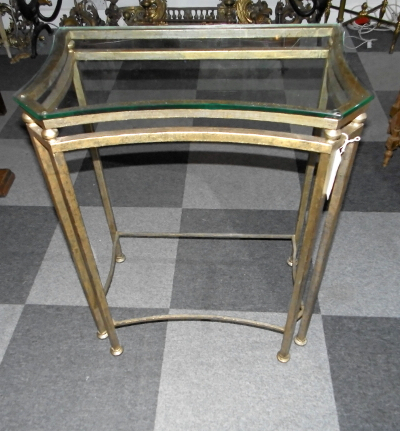 Phillip Brass Console Tables Throughout Most Current Gilt Metal Console Table With Glass Top – Marshall Phillips Ltd (View 12 of 20)