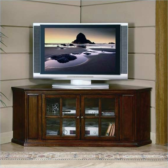 Picture Of Tall Corner Tv Stands Throughout 2018 Corner Tv Stands For 46 Inch Flat Screen (View 9 of 20)