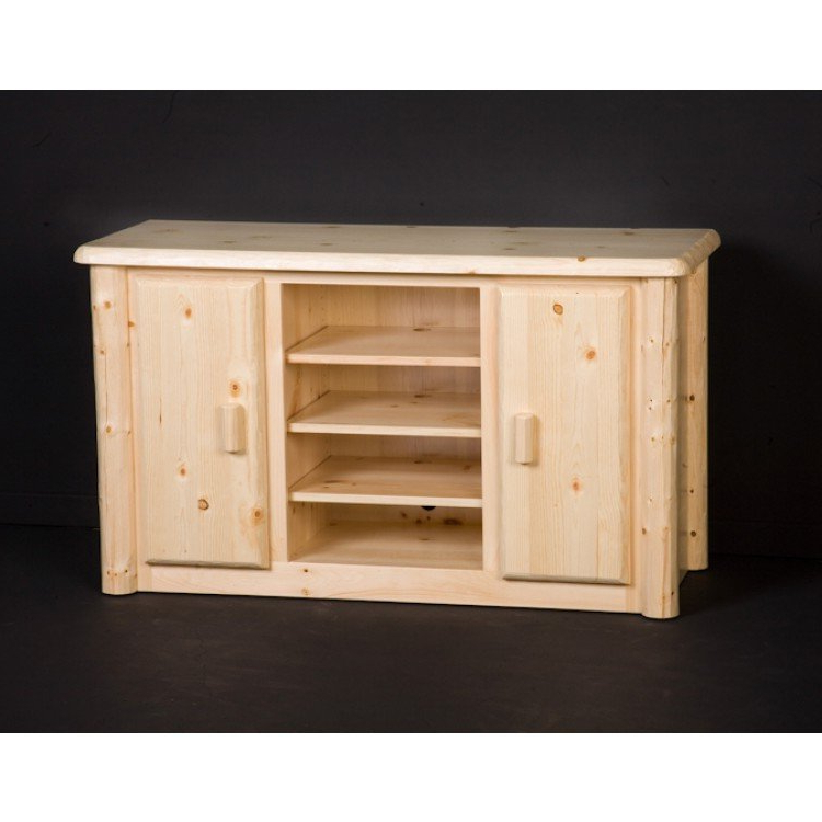 Pine Log Pertaining To Wide Screen Tv Stands (View 8 of 20)