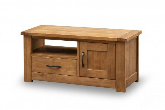 Pine Tv Cabinets Pertaining To Trendy Lpd Furniture Broden Solid Pine Tv Unit – Tv Cabinets – Fit (View 13 of 20)