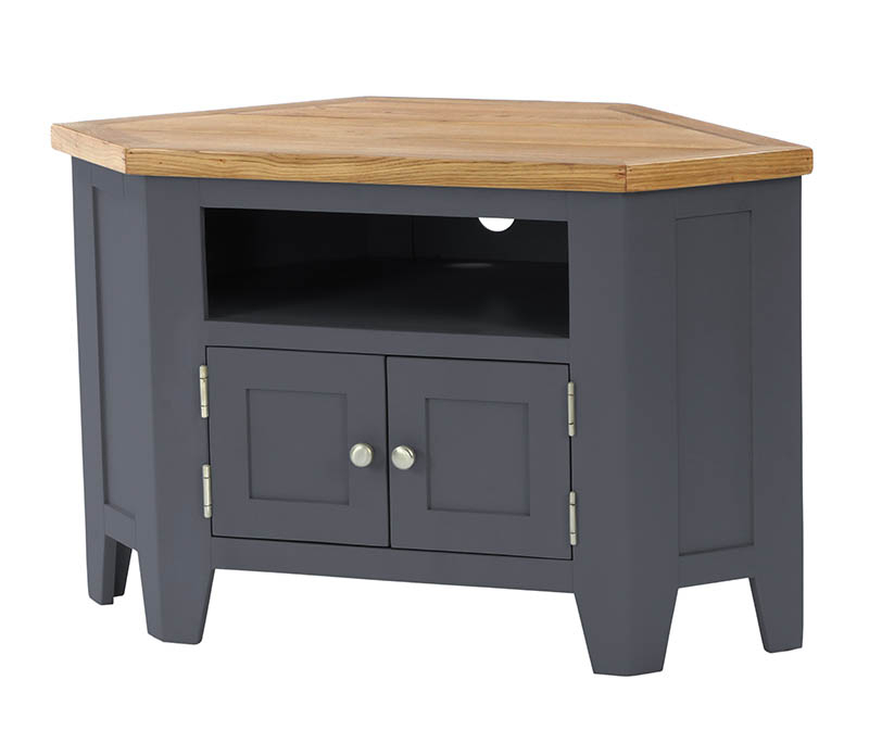 Pitchford Dark Grey Corner Tv Cabinet Stand (View 4 of 20)
