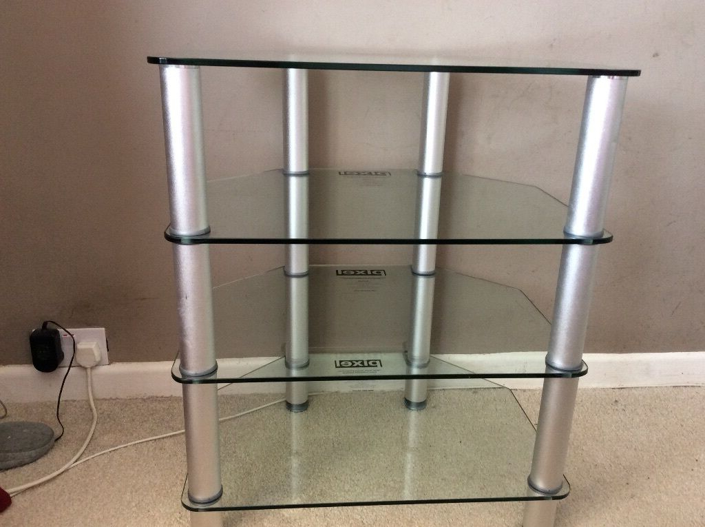 Pixel Tv Stand Glass/ Silver From Richer Sounds (View 13 of 20)