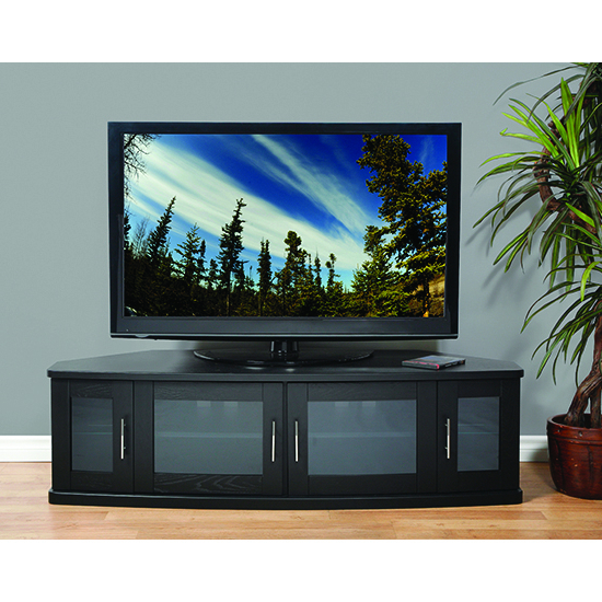 """Plateau Newport62B Corner Tv Stand Up To 70"""" Tvs In Black Oak Finish (View 15 of 20)"""