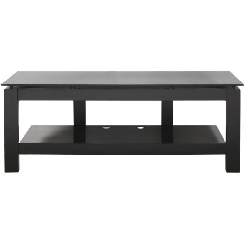 Plateau Sl Series Single Shelf 50 Inch Open Tv Stand Black Canada Regarding Latest Single Shelf Tv Stands (View 10 of 20)