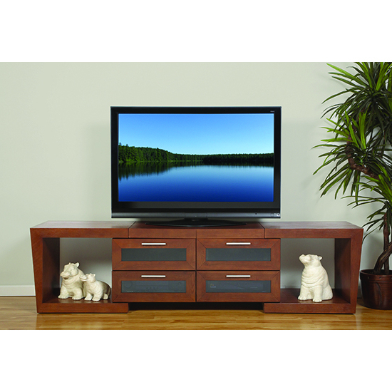 "Plateau Valencia 5187W Expandable Tv Stand Up To 90"" Tvs In Walnut Pertaining To Preferred Valencia 70 Inch Tv Stands (View 9 of 20)"