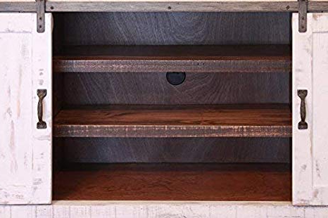 "Popular Amazon: Anton White 80"" Rustic Tv Stand: Kitchen & Dining With Noah Rustic White 66 Inch Tv Stands (View 16 of 17)"