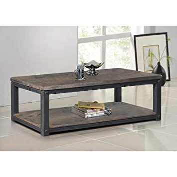 Popular Amazon: Rustic Coffee Table Industrial Entertainment Center Wood For Rustic Coffee Table And Tv Stand (View 10 of 20)