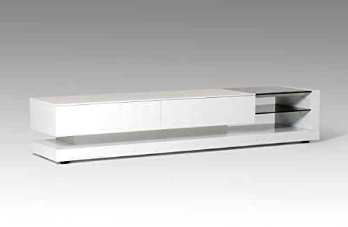 Popular Amazon: Vig Furniture Modrest Mali Modern White Tv Stand For Modern White Tv Stands (View 3 of 20)