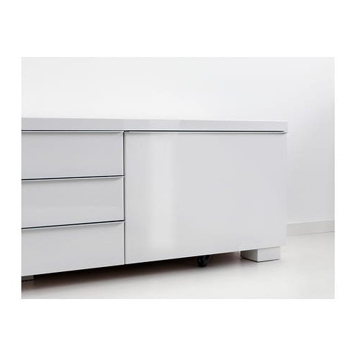 Popular Bestå Burs Tv Bench High Gloss White 180 X 41 X 49 Cm – Ikea Within White Gloss Tv Benches (View 8 of 20)