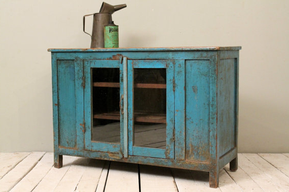Popular Blue Tv Stands In Media Console Tv Stand Vintage Acid Washed Bright Jodhpur Blue (View 16 of 20)