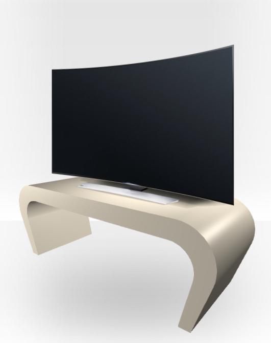 Popular Cream Gloss Tv Stands For Cream Gloss Tv Stand – Wedge – Zespoke (View 4 of 20)