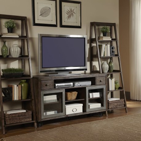 Popular Industrial Entertainment Center Wood Television Stand T.v (View 11 of 20)