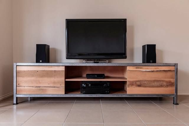 Popular Industrial Tv Cabinets Within Special House Decoration With Rustic Industrial Furniture (View 15 of 20)