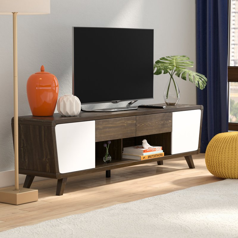 "Popular Langley Street Dormer Modern Tv Stand For Tvs Up To 70"" & Reviews Intended For Modern Tv Cabinets For Flat Screens (View 15 of 20)"