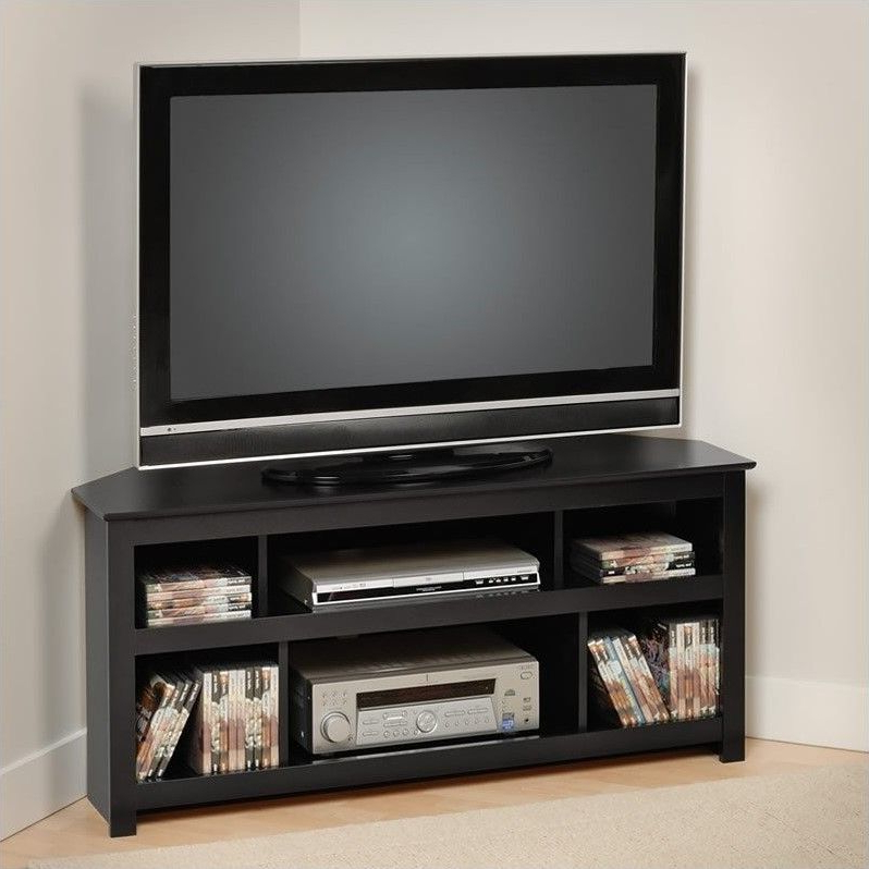 """Popular Lowest Price Online On All Prepac Vasari 48"""" Corner Tv Stand In Pertaining To Flat Screen Tv Stands Corner Units (View 18 of 20)"""