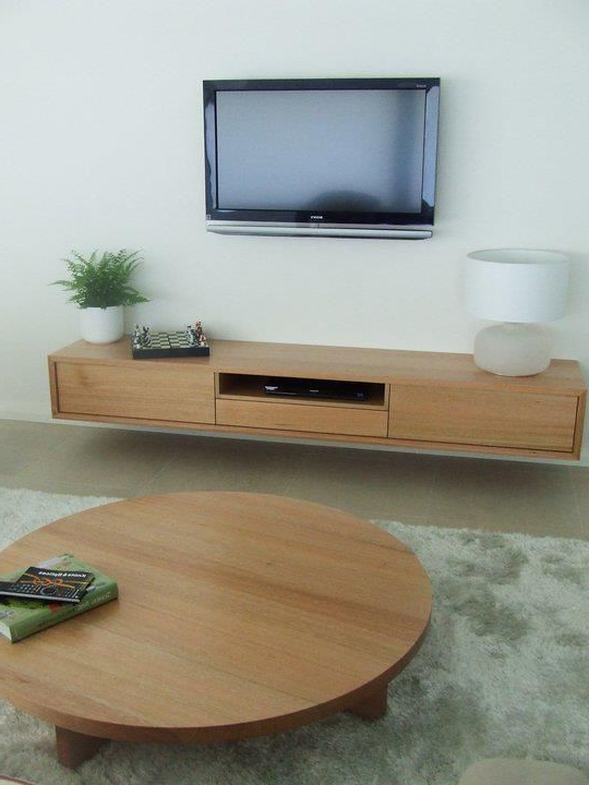 Popular Matching Tv Unit And Coffee Tables For Tassie Oak Solid Timber Entertainment Unit And Matching Round (View 15 of 20)
