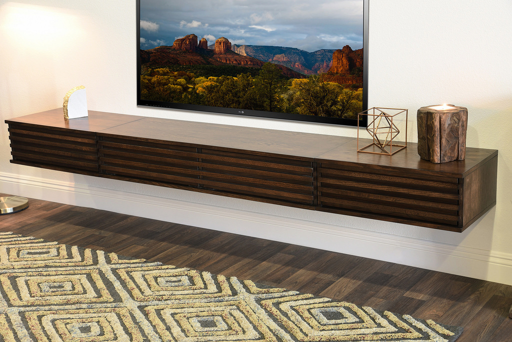 Popular Modern Contemporary Tv Stands With Regard To Modern Contemporary Tv Stand Woodwaves – Lotus – Russet Br… (View 16 of 20)