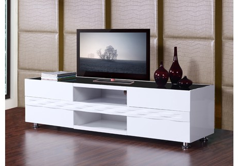 Popular Modern White Tv Stands In B Modern Publisher (View 20 of 20)