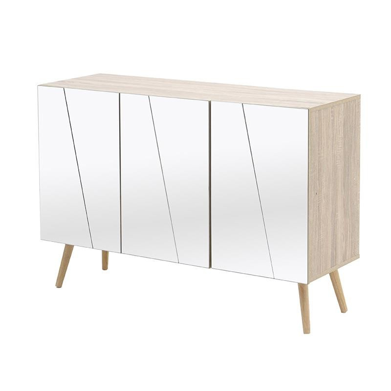 Popular Natural Wood Mirrored Media Console Tables Within Entrance Furniture – Drawers – Consoles – Furniture – Inart (View 16 of 20)
