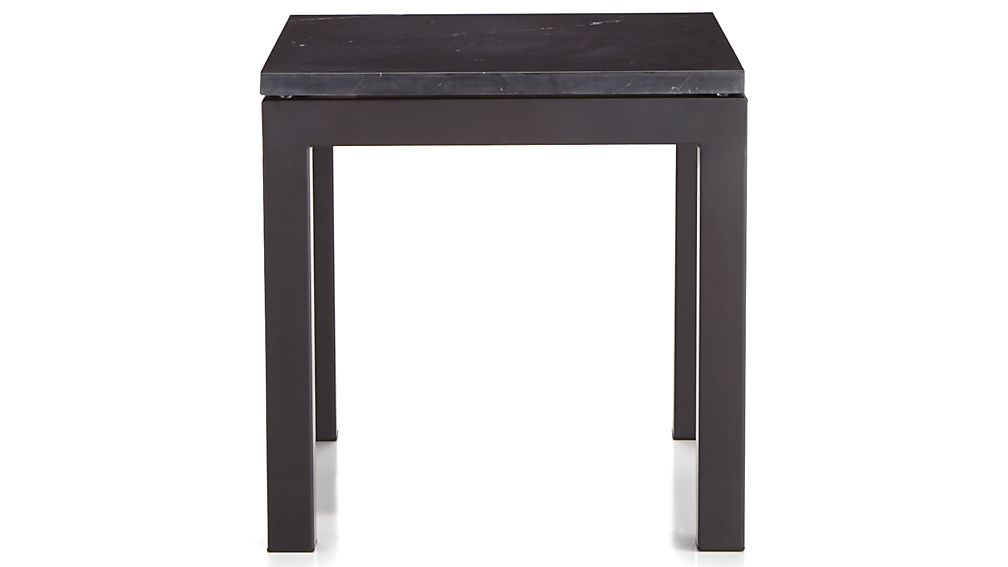 Popular Parsons Black Marble Top/ Dark Steel Base 20X24 End Table + Reviews Throughout Parsons Black Marble Top & Stainless Steel Base 48X16 Console Tables (View 18 of 20)