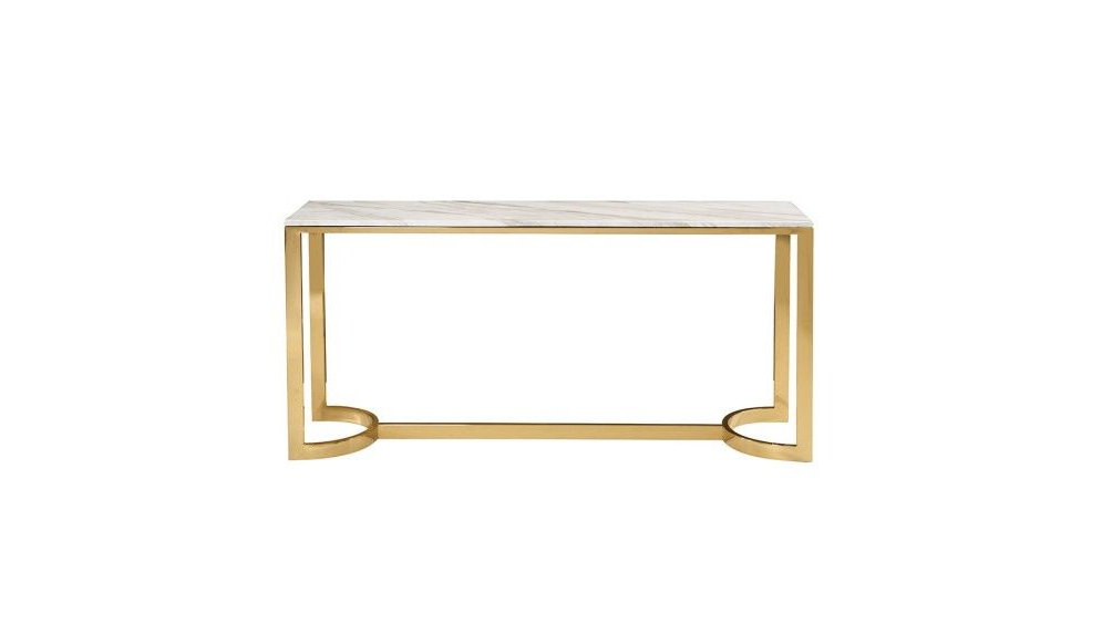 Popular Parsons Clear Glass Top & Elm Base 48X16 Console Tables With Regard To Worlds Away Clear Glass Tops 2 Tier Bronze Table Wa Domino Brz (View 15 of 20)