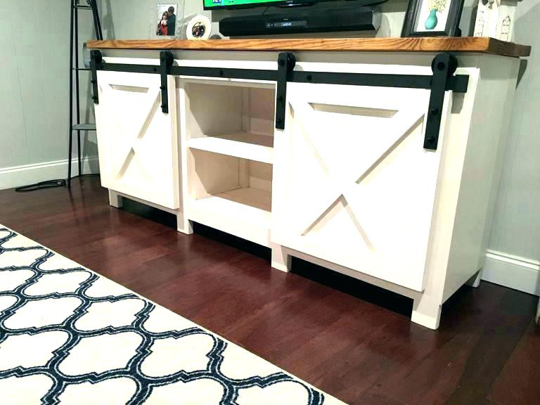 Popular Rustic Tv Stands For Sale Pertaining To Rustic Tv Stand With Barn Doors Stands For Sale A And Shelves (View 5 of 20)