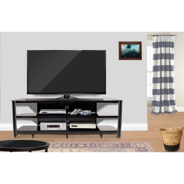 Popular Shop Fold 'n' Snap Oxford 73 Inch Black Innovex Tv Stand – Ships To With Regard To Oxford 60 Inch Tv Stands (View 15 of 20)