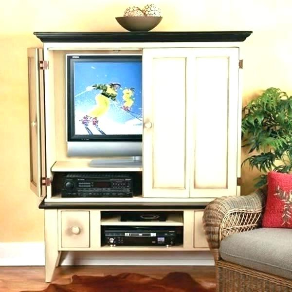 Popular Tv Cabinets With Doors For Flat Screens Glamorous Collection Cabinet Pertaining To Oak Tv Cabinets For Flat Screens With Doors (View 18 of 20)