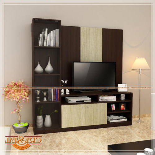 Popular Tv Entertainment Units Regarding Crystal Furnitech Engineered Wood Tv Entertainment Unit, Rs  (View 14 of 20)