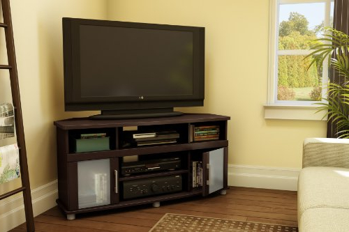 Popular Tv Stands For Corner Inside Amazon: City Life Corner Tv Stand – Fits Tvs Up To 50'' Wide (View 14 of 20)