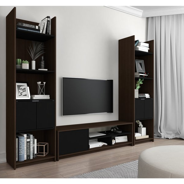 Popular Tv Stands For Small Spaces In Shop Bestar Small Space 3 Piece Tv Stand And 2 Storage Towers Set (View 13 of 20)