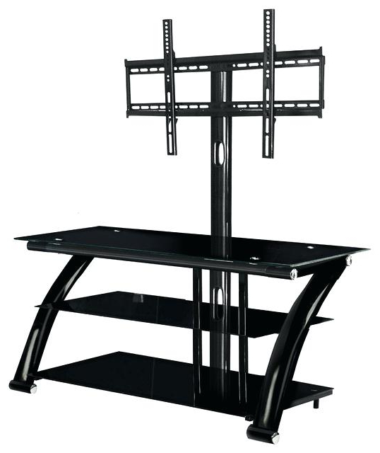 Popular Tv Stands With Mount Throughout Curved Tv Stand With Mount Curved Media Rack And Wall Mount Stand (View 8 of 20)