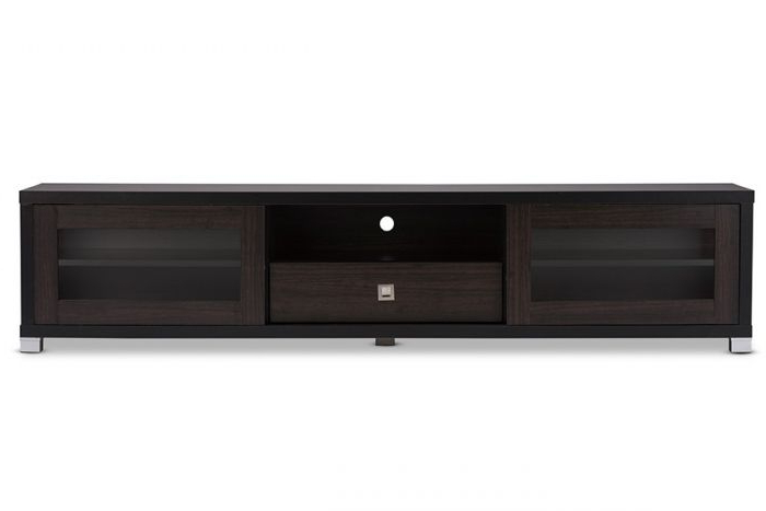 "Popular Wenge Tv Cabinets For Baxton Tv834180 Wenge Beasley 70"" Brown Tv Cabinet With 2 Doors/drawer (View 7 of 20)"