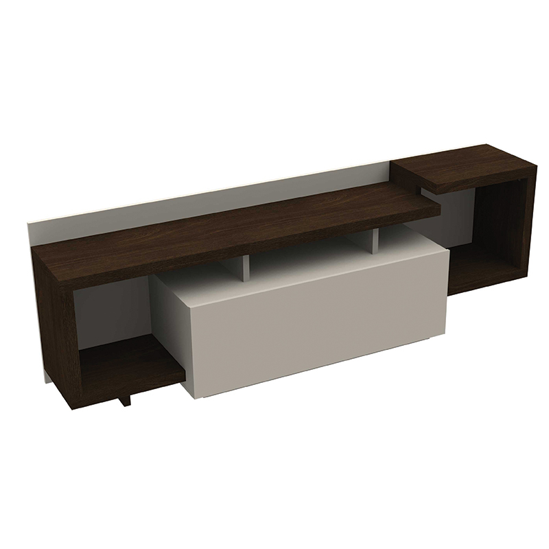 Popular Wenge Tv Cabinets Within Domani Modern Tv Cabinet Wenge/white (View 8 of 20)