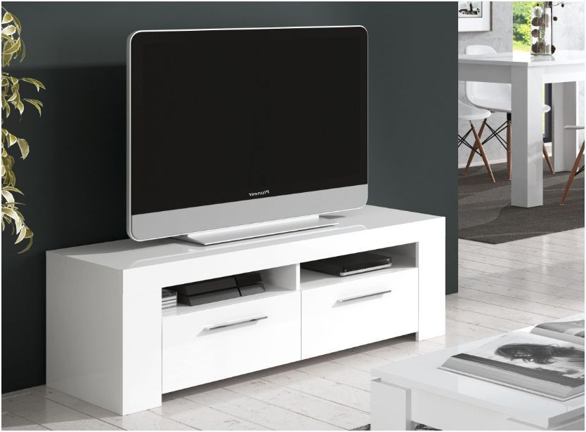 Popular White Gloss Tv Cabinets Intended For Curro White Gloss Tv Cabinet – Swagger Inc (View 6 of 20)