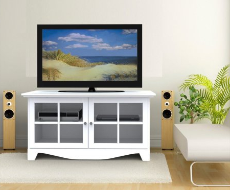 Popular White Tv Stands For Flat Screens With White Tv Stands For Flat Screens: Top 7 Most Popular White Tv Stands (View 6 of 20)