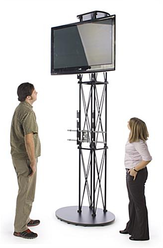 Portable Truss Design W/oval Base With Regard To Current Very Tall Tv Stands (View 17 of 20)