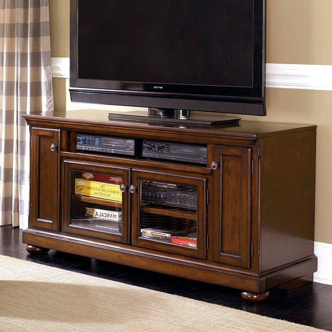 Porter 60 Inch Large Tv Standsignature Designashley Within Most Popular Tv Stands 38 Inches Wide (View 10 of 20)