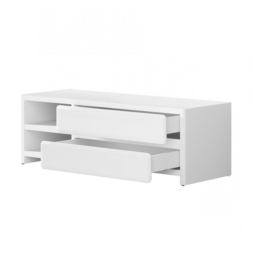 Possi 2 Drawers And Divider Tv Stand Regarding Preferred Open Shelf Tv Stands (View 12 of 20)