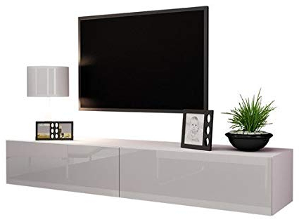 Preferred Amazon: Domadeco 180 Tv Stand/floating Tv Unit/tv Entertainment Intended For Entertainment Center Tv Stands (View 16 of 20)