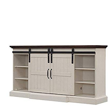 Preferred Amazon: Hogan Electric Fireplace Tv Stand In Weathered White In Kilian Grey 60 Inch Tv Stands (View 19 of 20)