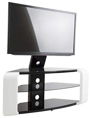 Preferred Avf Como Gloss White Cantilever Tv Stand: Amazon.co (View 8 of 20)