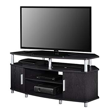 Preferred Black Corner Tv Cabinets With Regard To Amazon: Ameriwood Home Carson Corner Tv Stand For Tvs Up To (View 12 of 20)